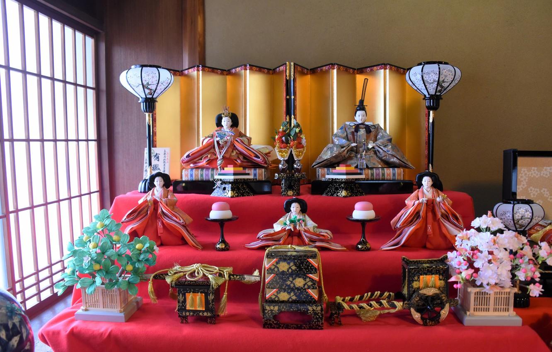 Фото обои игрушки, япония, куклы, фигурки