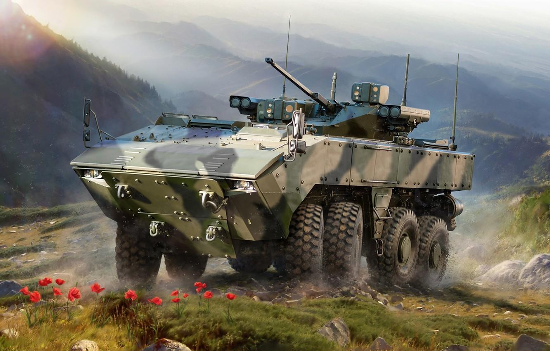 Фото обои Россия, бронированная машина, Боевая, Бумеранг, Унифицированная боевая платформа «Бумеранг»
