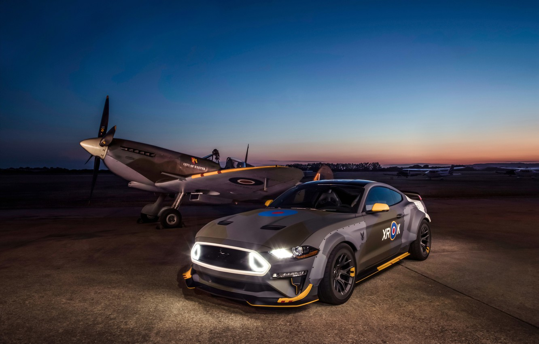 Фото обои Ford, вечер, RTR, 2018, Mustang GT, Eagle Squadron