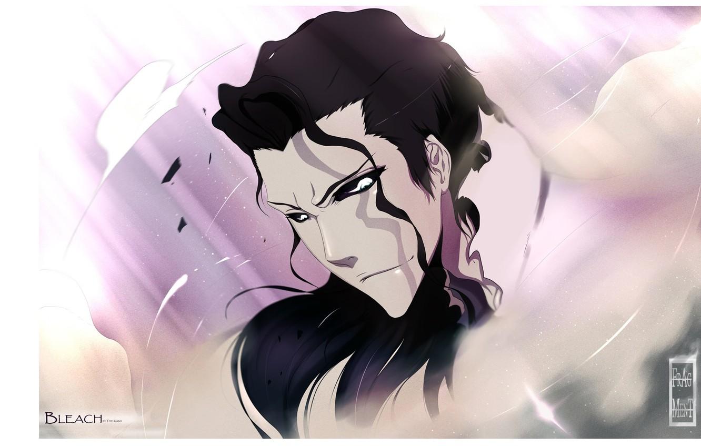 Фото обои взгляд, лицо, Bleach, Блич, черные волосы, Aizen Sousuke, by Tite Kubo