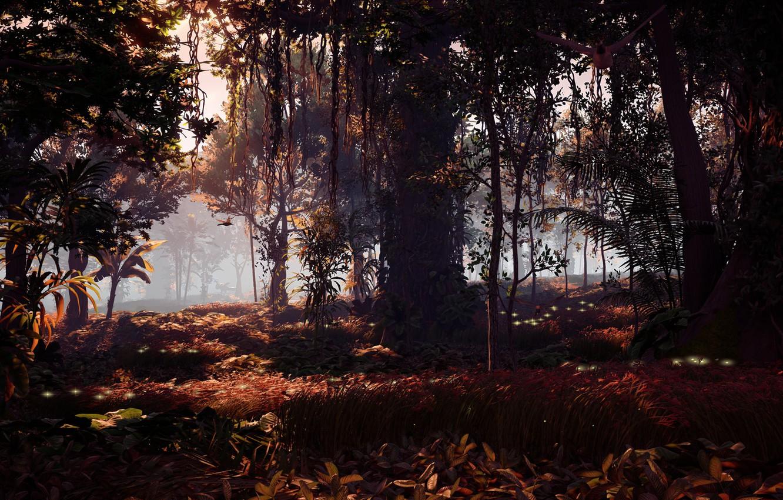 Фото обои пейзаж, джунгли, эксклюзив, Playstation 4, Guerrilla Games, Horizon Zero Dawn