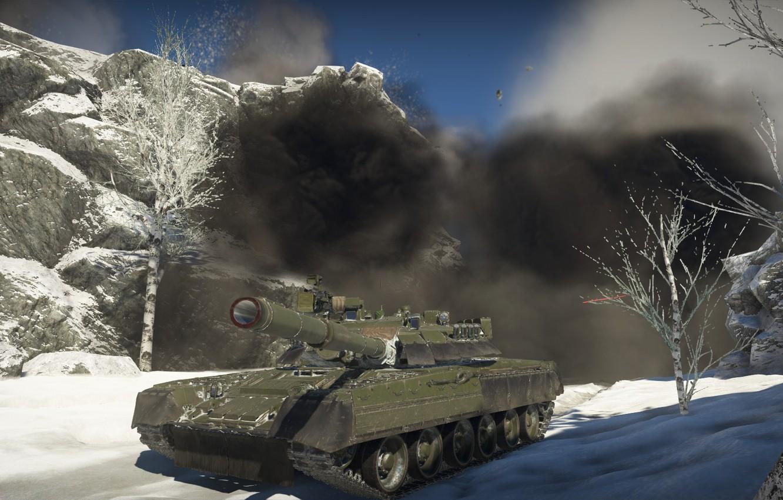 Фото обои Танк, War Thunder, Т-80 У