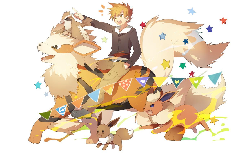 Фото обои мальчик, Pokemon, Покемоны