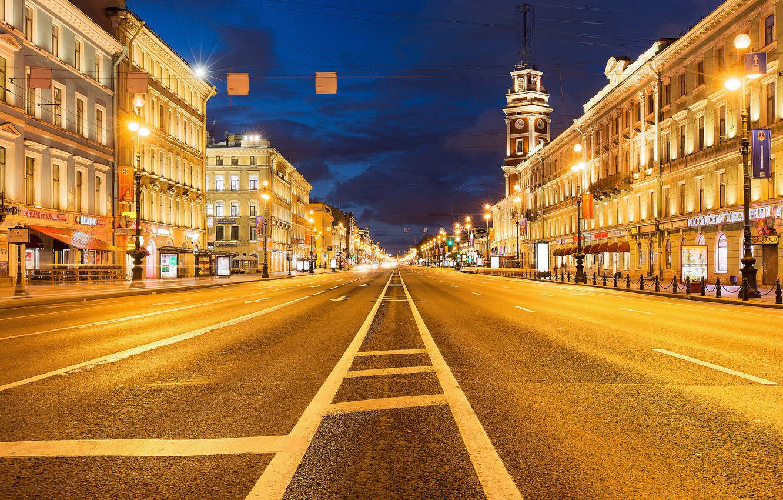 Обои тротуар, здания, свет. Города foto 8