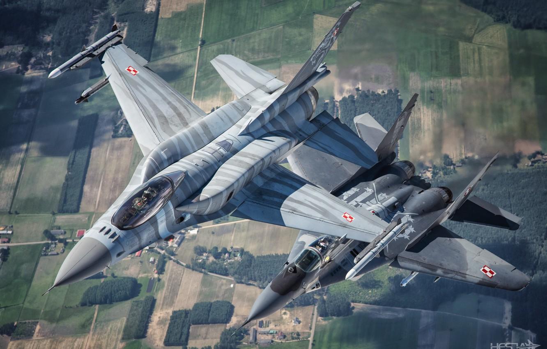 Обои МиГ-29М, ВВС Польши, многофункциональный истребитель. Авиация foto 13
