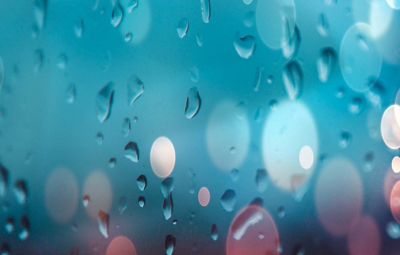 Фото обои стекло, вода, капли, glass, water, background, боке, bokeh, drops