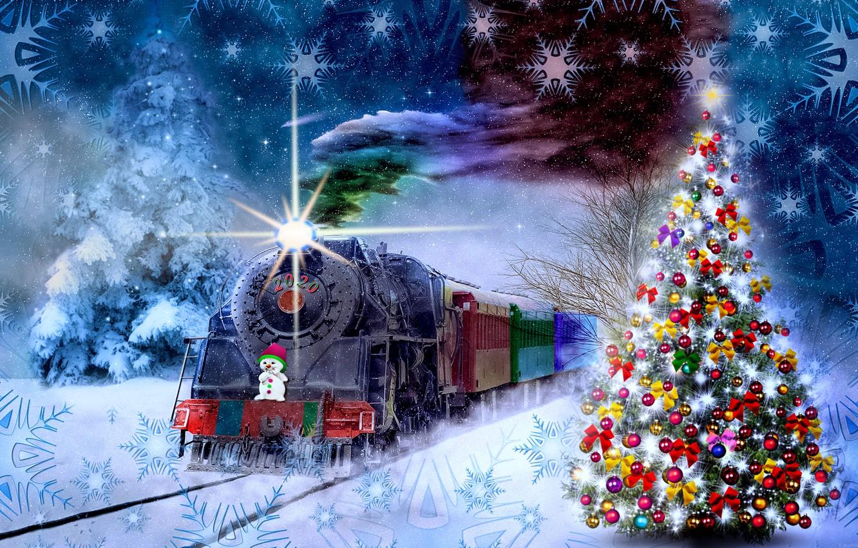 Фото обои фантазия, тема, новогодняя