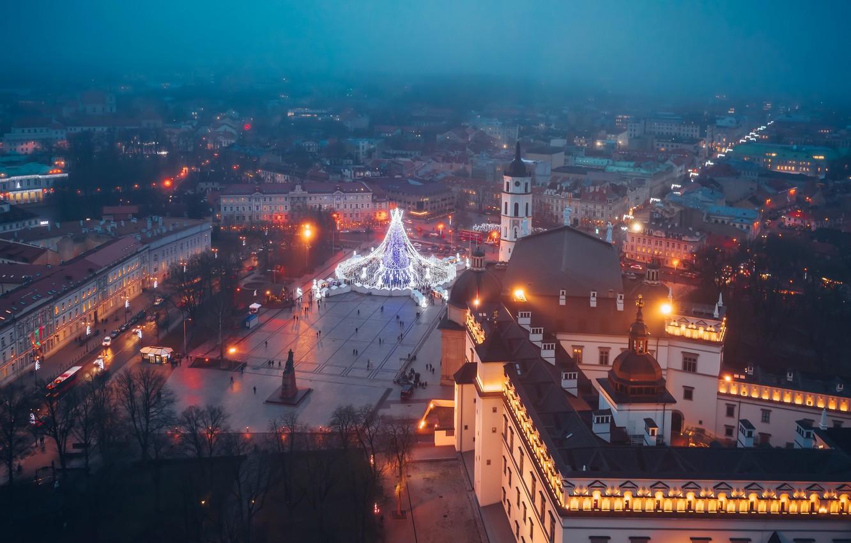 Обои новый город, вильнюс, освещение. Города foto 7