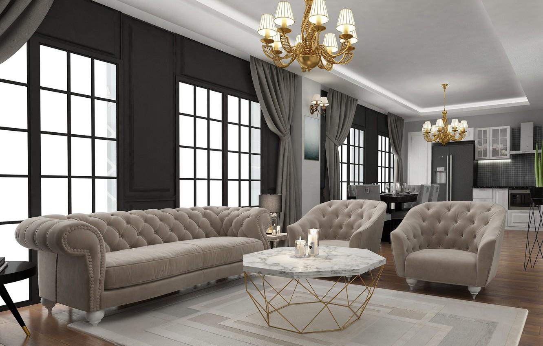 Фото обои дизайн, рендеринг, комната, арт, ahmet bozdag, livingroom desing