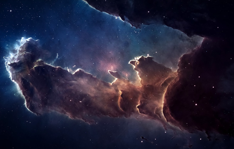 Фото обои space, nebula, stars, galaxy, constellation, Eagle Nebula, Serpens