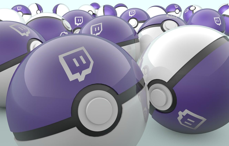 Фото обои шар, эмблема, pokeball, сайт, stream, покебол, твич, стрим, twitch