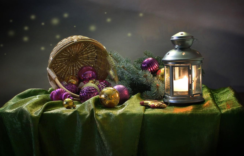 Фото обои зима, праздник, новый год