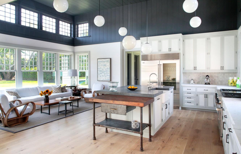 Фото обои дизайн, интерьер, кухня, гостиная