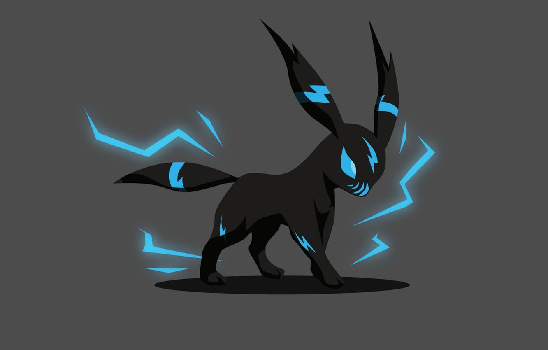 Фото обои фон, чёрный, минимализм, Покемон, Pokemon