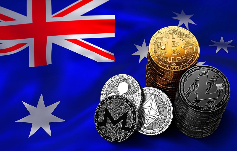 Фото обои звёзды, флаг, австралия, stars, flag, australia, bitcoin, ripple, eth, xmr, btc, xrp, litecoin, ltc, monero, …