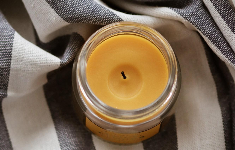 Фото обои уют, свеча, ткань
