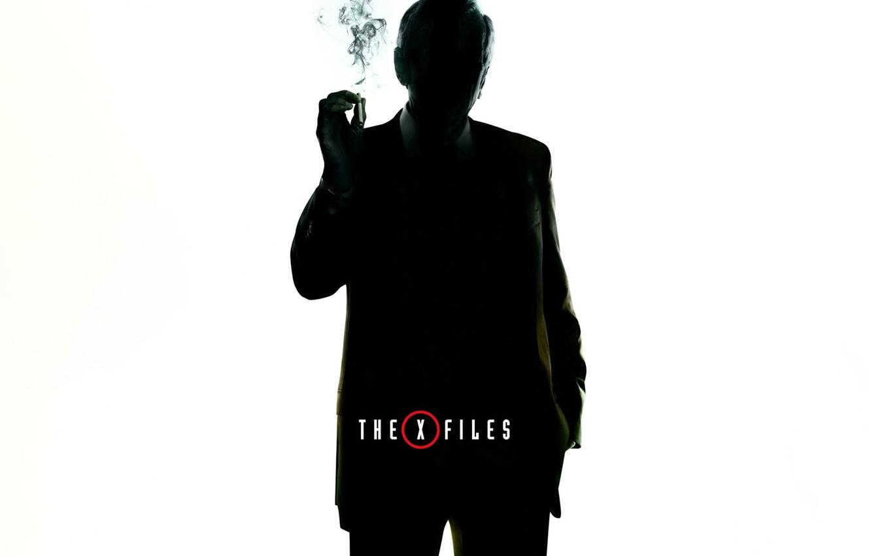 Фото обои сериал, The X-Files, Секретные материалы, курильщик