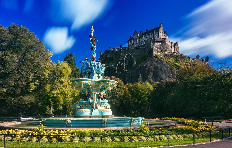Обои замок, холм, эдинбург, edinburgh, Шотландия. Пейзажи foto 15