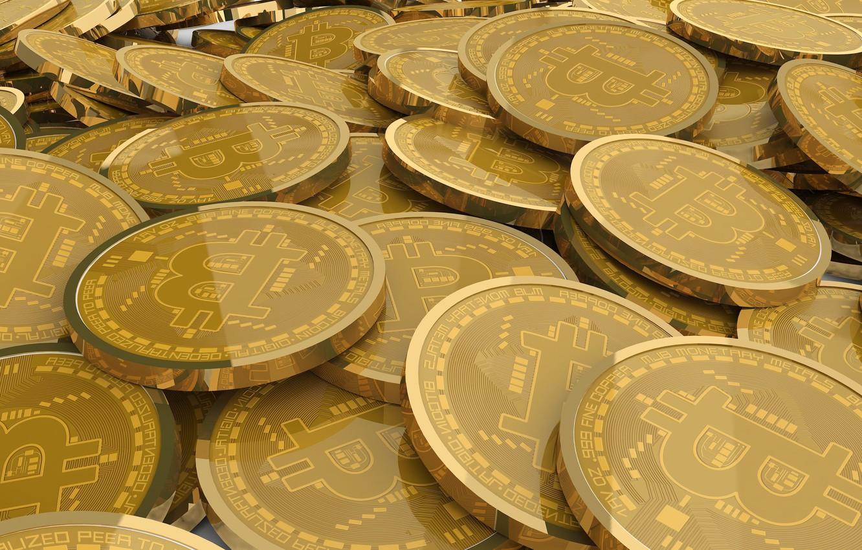 Фото обои блеск, лого, монеты, бежевый, coins, bitcoin, биткоин