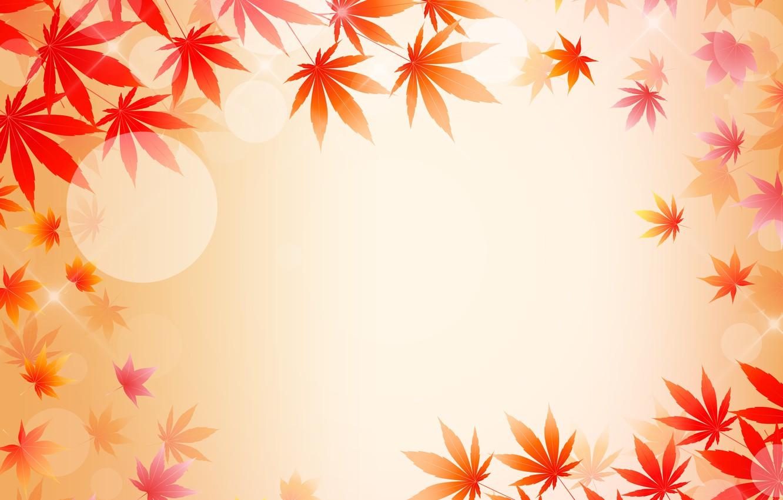 Фото обои листья, открытка, шаблон, заготовка