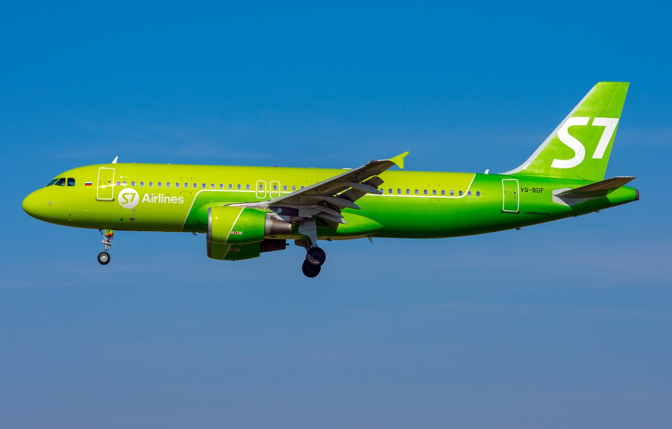 Фото обои Airbus, Siberia Airlines, A320-200