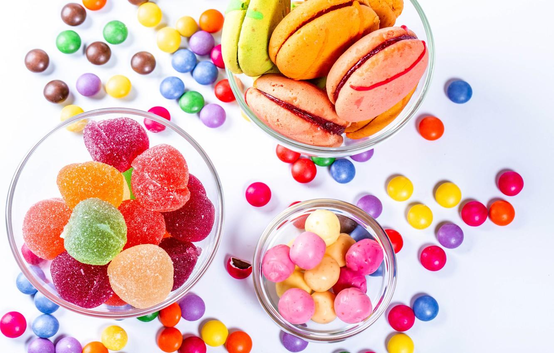 Фото обои фото, конфеты, сладости, драже, мармелад