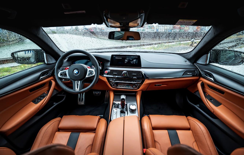 Фото обои интерьер, BMW, седан, салон, Biturbo, BMW M5, Manhart, M5, V8, F90, 2019, 4.4 л., MH5 …