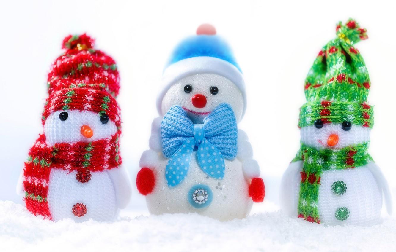 Фото обои макро, игрушка, снеговик, снеговичок