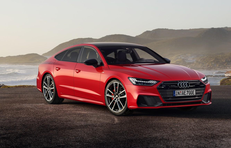 Фото обои Audi, Sportback, TFSI, S line, 2019, A7