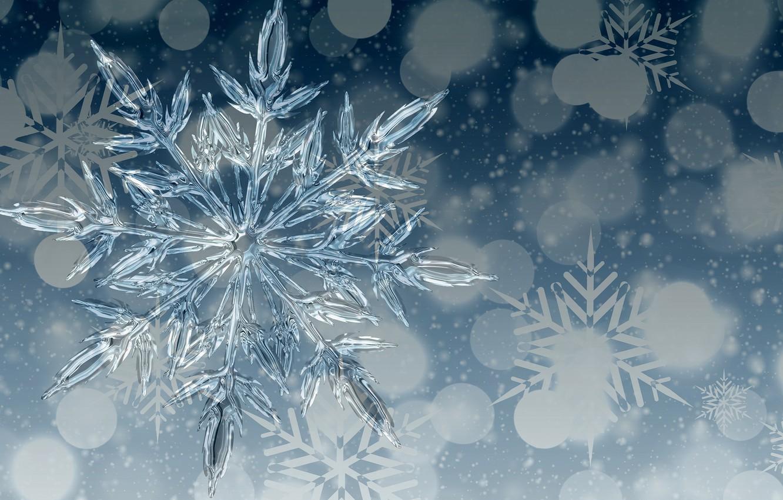 Фото обои фон, лёд, снежинка
