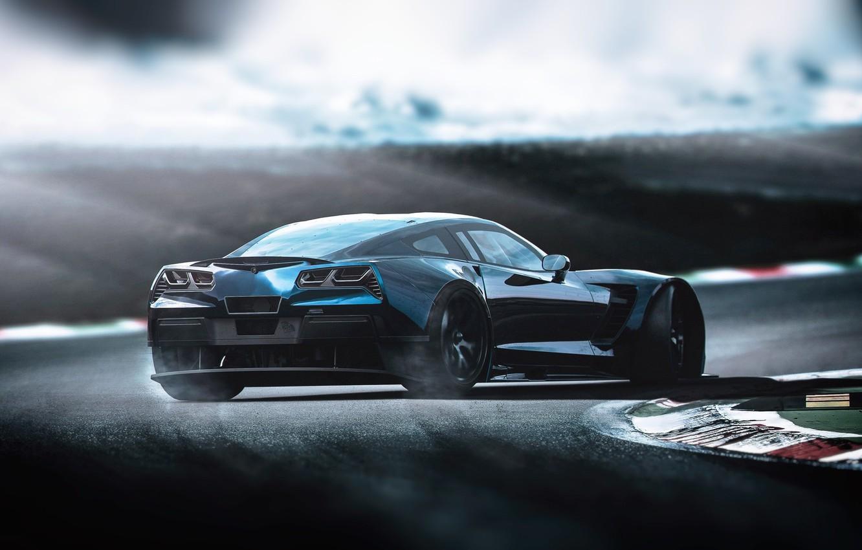 Фото обои Авто, Corvette, Chevrolet, Машина, Chevrolet Corvette, Рендеринг, Concept Art, Chevrolet Corvette C7, Transport & Vehicles, ...