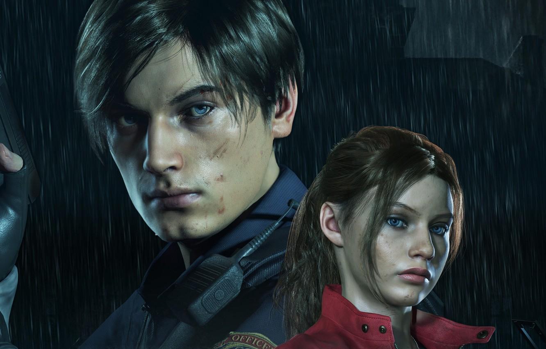 Фото обои Resident Evil, Capcom, Leon, Claire, Resident Evil 2, Resident Evil 2 (2019)