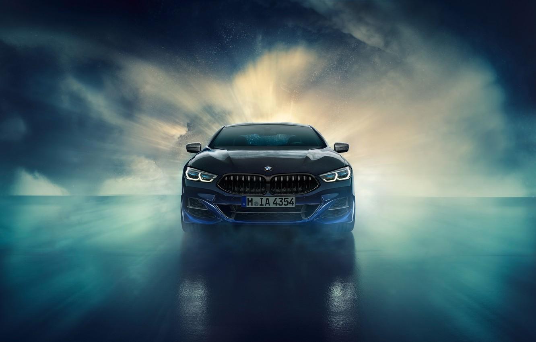 Фото обои BMW, вид спереди, Coupe, Night Sky, Individual, 8-Series, 2019, M850i, XDrive, Night Sky Edition