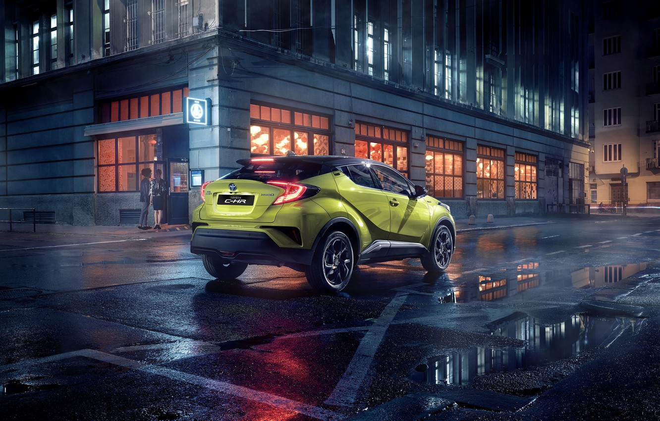 Фото обои Toyota, C-HR, 2019, powered by JBL, Neon Lime