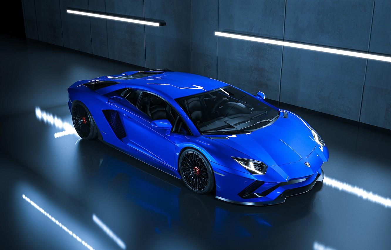 Фото обои Синий, Lamborghini, Машина, Car, Суперкар, Aventador, Lamborghini Aventador, Supercar, Спорткар, Sportcar, Transport & Vehicles, Ryan …