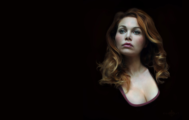 Фото обои портрет, арт, Self Portrait, christine gourvest