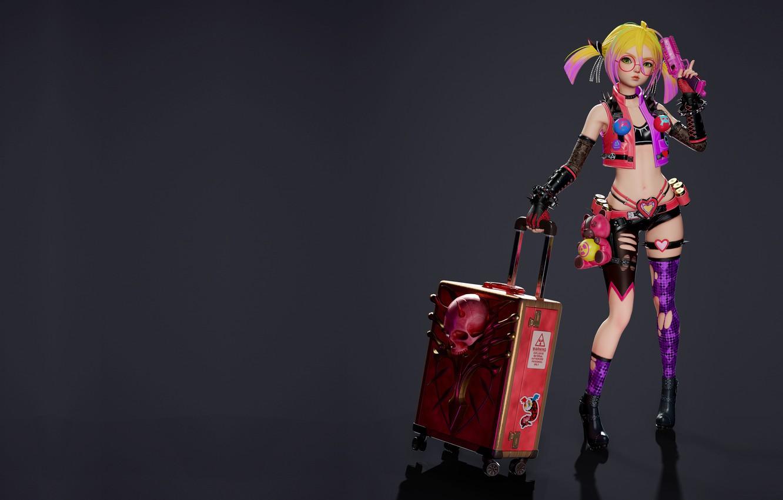 Фото обои оружие, аниме, арт, чемодан, Royal blood, Overhit - Blossom