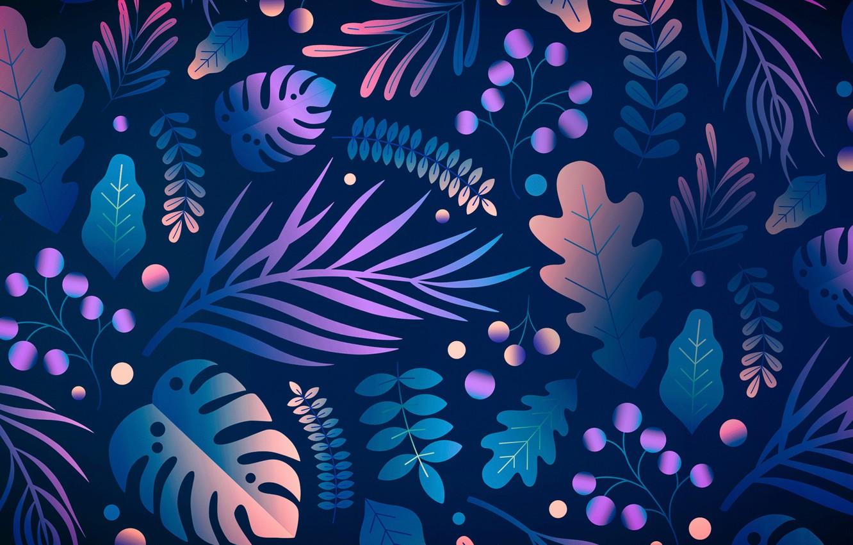 Фото обои листья, абстракция, графика, текстура, рябина, дуб