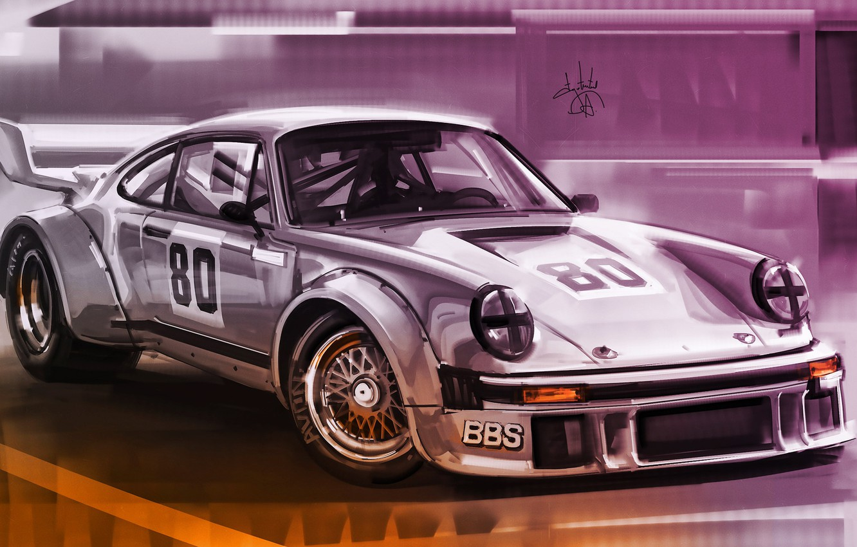 Фото обои Авто, Рисунок, 911, Porsche, Машина, Art, Porsche 911, Porsche 911 Turbo S, Aleksandr Sidelnikov, by …