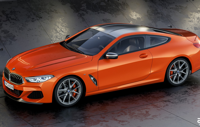 Фото обои Авто, BMW, Машина, БМВ, Оранжевый, Coupe, Рендеринг, BMW 8 Series, M850i, Zoki Nanco, by Zoki ...