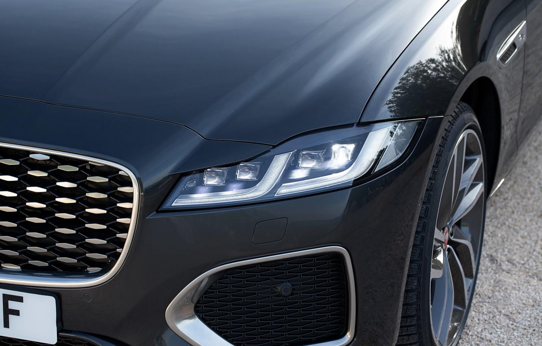 Фото обои Jaguar, фара, капот, перед, универсал, Jaguar XF, 2020, XF, XF Sportbrake