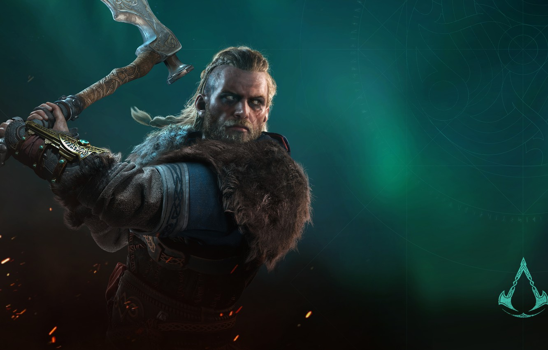 Фото обои игры, axe, топор, воины, games, викинг, viking, eivor, valhalla, assassin's creed valhalla, эйвор