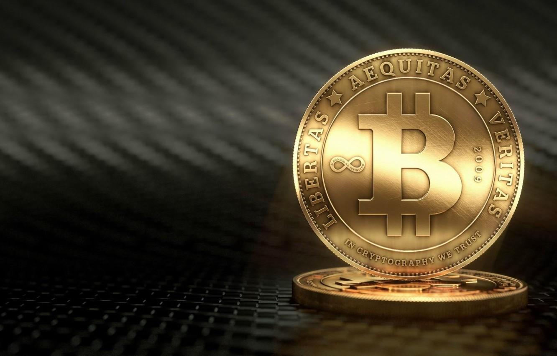 Фото обои размытие, лого, монеты, fon, coins, bitcoin, биткоин