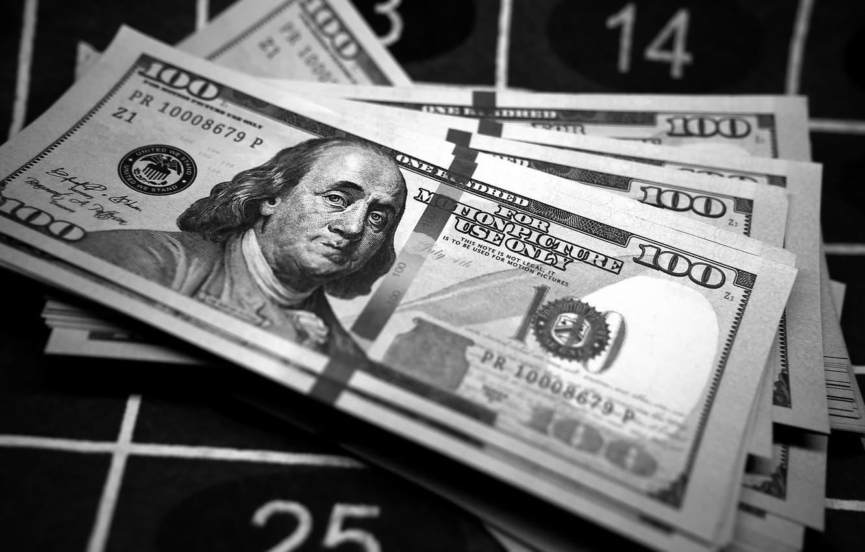 Фото обои макро, деньги, доллары