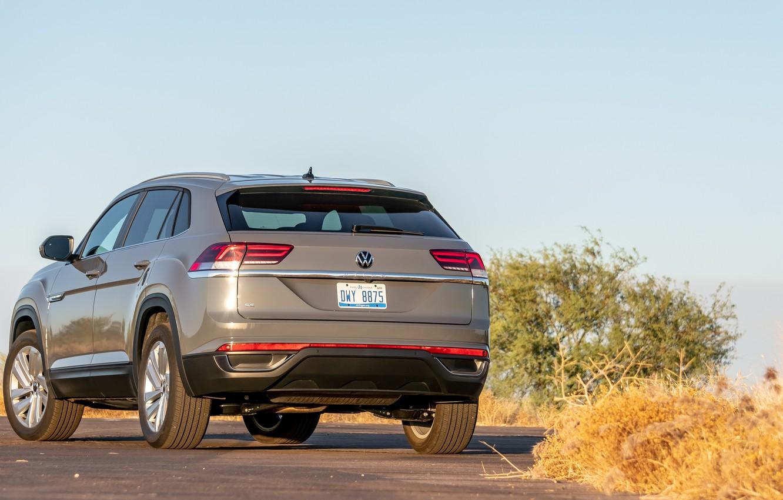 Фото обои Volkswagen, сзади, Atlas, Cross, 2020, Sport SE