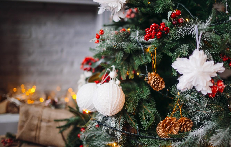 Фото обои украшения, шары, елка, Новый Год, Рождество, Christmas, balls, New Year, decoration, Merry, fir tree