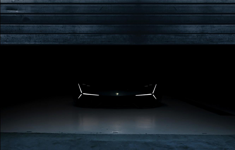 Фото обои темнота, Lamborghini, вид спереди, 2017, Terzo Millennio Concept