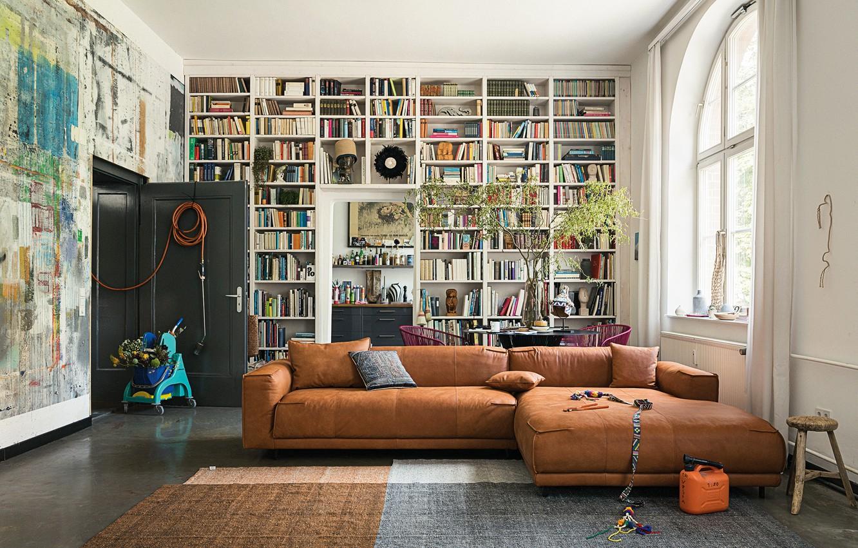 Фото обои мебель, Дизайн, Интерьер, Книги