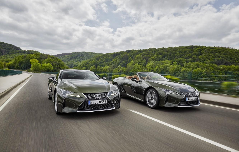 Фото обои купе, Lexus, кабриолет, LC 500, Lexus LC, 2021, LC 500 Convertible