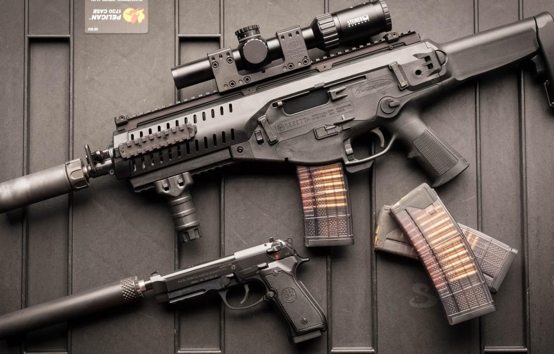 Фото обои оружие, автомат, weapon, Beretta, штурмовая винтовка, M9A1, assaul rifle, ARX, Beretta 92